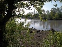 Är inget regn den flodBelaya freden och tystnaden arkivbild