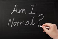 Är jag normal? Royaltyfri Fotografi