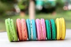 Är mång- färgrikt för franska makron läckert Royaltyfri Fotografi