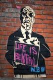 Är parisiskt grafittiliv för MBW härligt Arkivfoto