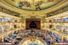 Är storslaget storartat för El Ateneo en av de bästa vetna bokhandlarna i Buenos Aires, Argentina Royaltyfri Fotografi
