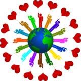 Är tillsammans förälskelse stock illustrationer
