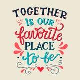Är tillsammans vårt favorit- ställe som är Arkivbild