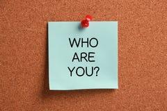 Är vem dig? Arkivfoto