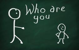 Är vem dig? Arkivbild