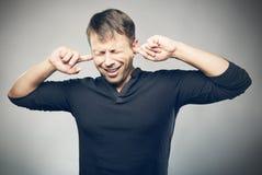 Ärgerliche Geräusche Stockbilder