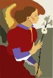 Ärkeängel Gabriel med liljan Arkivfoton