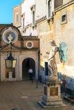 ÄrkeängelMichael staty i Castel Sant ' Angelo, Rome Arkivbilder