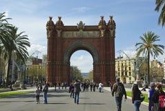 ärke- barcelona de triomf för båge triumf Arkivbilder