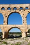 Ärke- bro av Pont du Gard Royaltyfria Foton