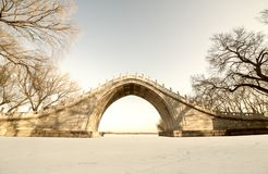 Ärke- bro av sommarslotten Royaltyfria Bilder