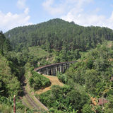 Ärke- bro nio i Sri Lanka Arkivbilder