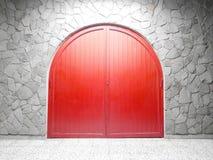 Ärke- dörr för Red Arkivbild