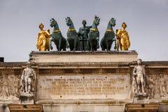 Ärke- de Triomphe du karusell i Paris Arkivfoton