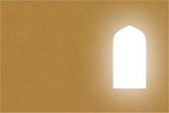Ärke- fönster för arabiska eller dörrar, papperssnittstil Royaltyfria Foton