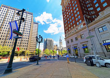 Ärke- gata i Philadelphia i PA Arkivfoton