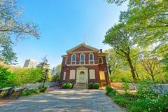 Ärke- hus för gatavänmöte i Philadelphia av PA Fotografering för Bildbyråer