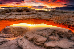ärke- mesa-soluppgång Royaltyfri Fotografi