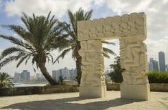 Ärke- monument i parkera av den gamla staden Royaltyfria Foton