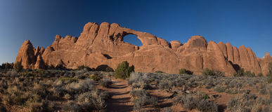 Ärke- panorama för horisont Arkivfoton