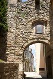 Ärke- passage - Besalu - Spanien Arkivfoton