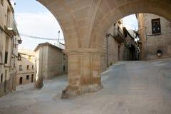 Ärke- passage - Calaceite - Spanien Royaltyfri Foto