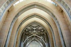 Ärke- port av moskén Arkivbilder