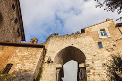 Ärke- port i Perugia Arkivfoton