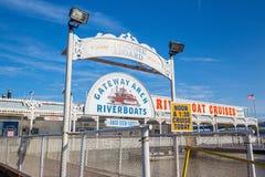 Ärke- Riverboat för nyckel Arkivbild