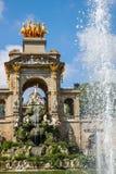Ärke- springbrunn i Parc de la Ciutadella, Barcelona, Spanien Arkivbilder