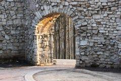 ärke- stenvägg royaltyfri bild