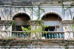 Ärke- struktur av åldrig byggnad Arkivfoto