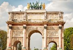 Ärke- Triumph karusell i Paris Royaltyfria Bilder