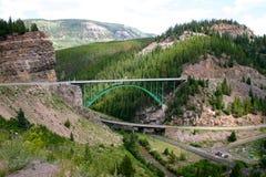 Ärke- upphängningbro Arkivbild