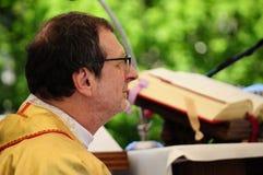 Ärkebiskop Claudio Gugerotti royaltyfri fotografi