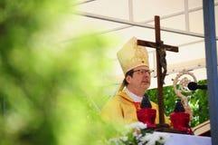 Ärkebiskop Claudio Gugerotti arkivbild