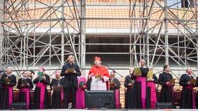Ärkebiskop Scola på San Siro stadion i Milan, Italien royaltyfria foton