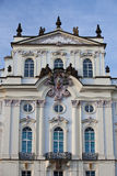 Ärkebiskopens slott nära den Prague slotten Arkivfoton
