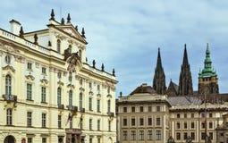 Ärkebiskopslott i Prague Royaltyfri Fotografi