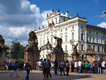 Ärkebiskopslott, Prague, tjeckisk republik Royaltyfri Fotografi
