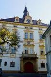Ärkebiskopslotten, Olomouc Tjeckien royaltyfria bilder