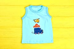 Ärmelloses Türkist-shirt des Babys Lizenzfreie Stockfotos