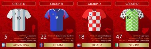 Ärmlös tröja 2018 för fotbollvärldscup D royaltyfri illustrationer