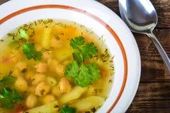 Ärta- och potatissoppa Arkivbilder
