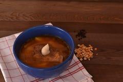 Ärta soppa, höna Fotografering för Bildbyråer