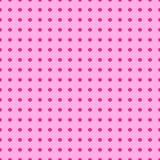 Ärtor för polka för sömlös för popkonst modell för bakgrund rosa röda pastellfärgade, komiker för vektorbakgrundsdesign, stil för stock illustrationer