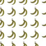 Ärtor räcker utdraget på vit bakgrund Hand dragit sömlöst utsmyckat vektor illustrationer