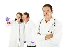 Ärzteteam-Führer Stockfotografie