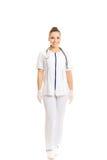 Ärztin in der Uniform Lizenzfreie Stockbilder