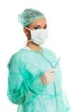 Ärztin mit einem Skalpell Stockbild